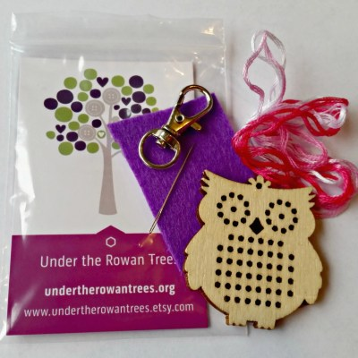 Cross Stitch Kits, craft set, children's stocking filler, party favour, embroidered key ring, embroidery gift