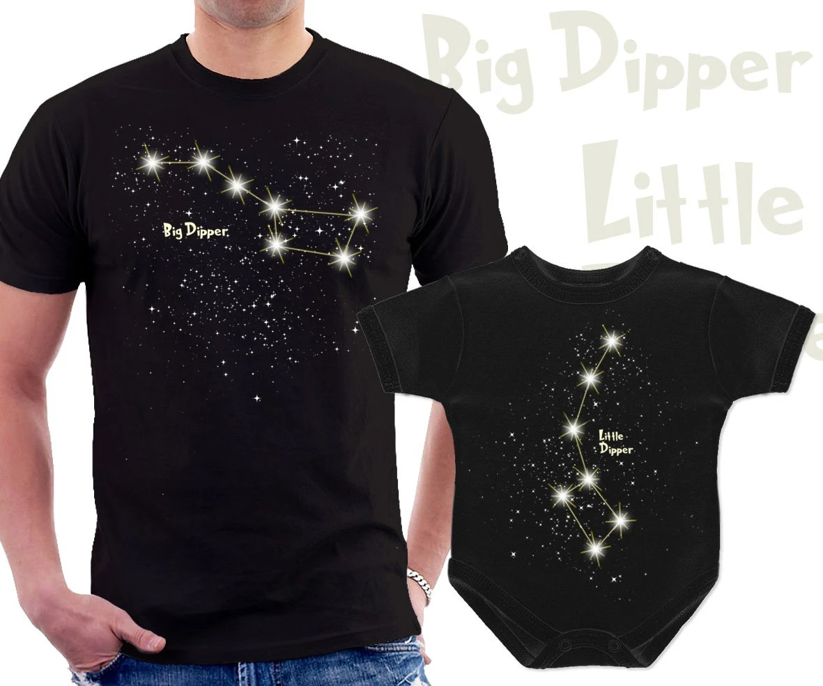 Big Dipper And Little Dipper For Dad And Baby Matching T