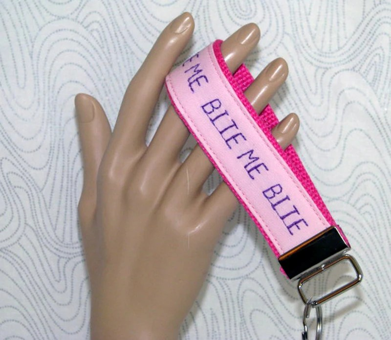 Key fob, key wristlet,key holder, keys, key chain, key holder, keys, house keys, house key holder, bite me key fob