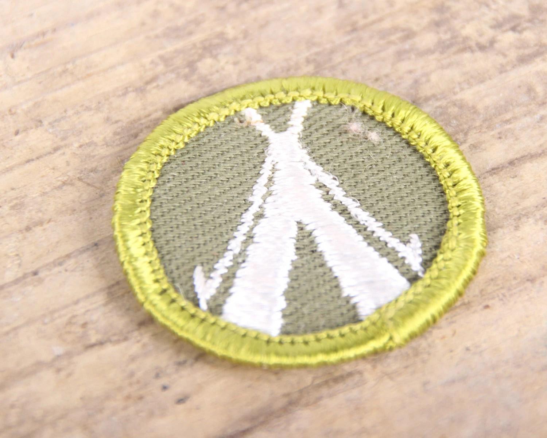 Vintage S Boy Scout Merit Badge Patch Tipi Tepee Bsa