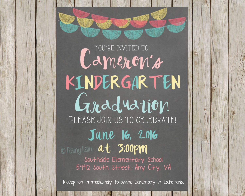 Kindergarten Graduation Party Printable By Rainylaindesigns