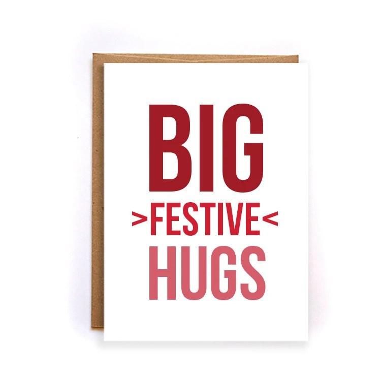Big Hug Card Etsy