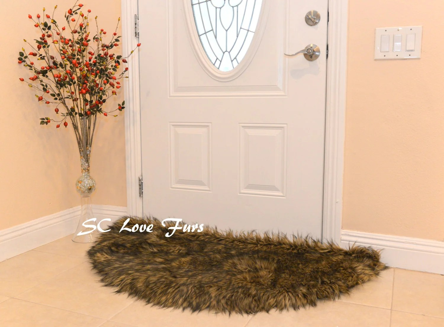 5 58 Diameter Custom Shape Half Moon Half Round Area Rug