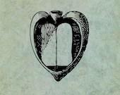 Open Heart Book - Antique...