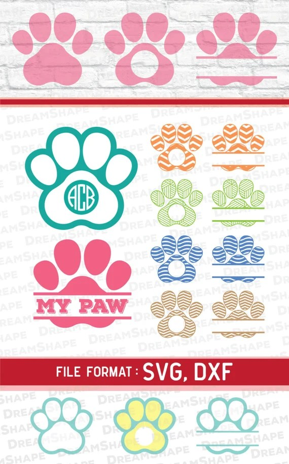 Download SVG Paw Cut Files, Vinyl Cutters, Monogram Cricut Files ...