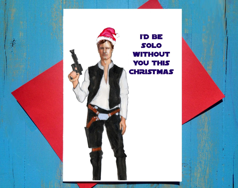 Han Solo Star Wars Christmas Card