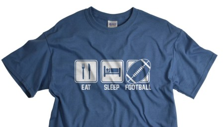 Eat Sleep Football Shirt - Birthday Gifts for Him - Sports Gift - T-shirt for Men