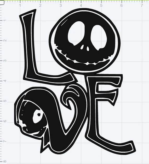 Download Jack & Sally Love SVG EPS DXF Studio3 Cut File Decal T-shirt