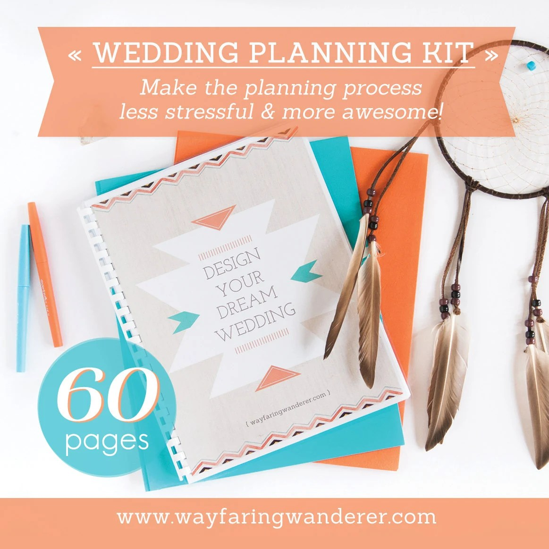 60 Page Wedding Planner Printable Wedding Planning Kit