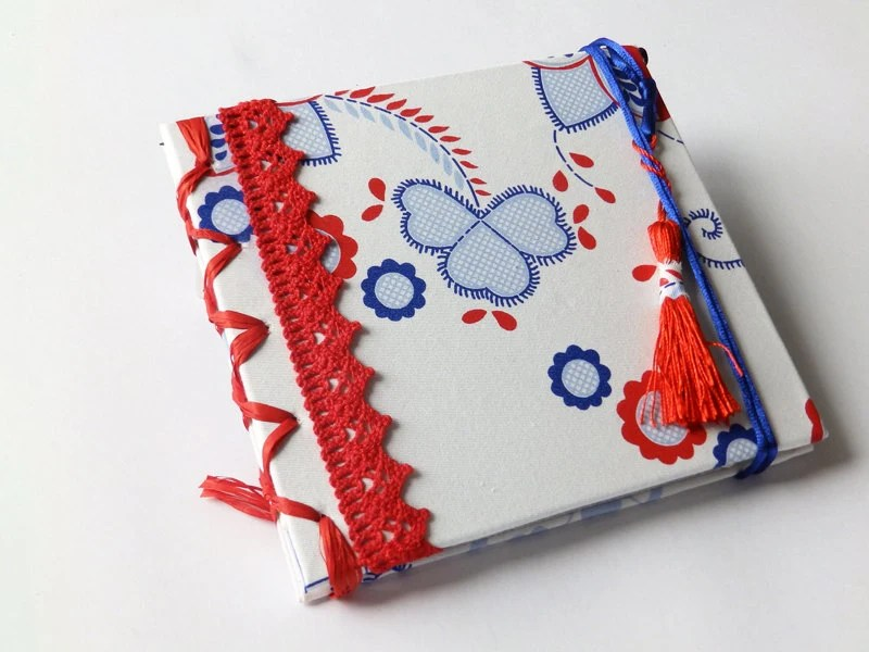 Travel journal blank book for Portugal travel memories with contemporary design & traditional folk inspiration fully detailed READY TO SHIP