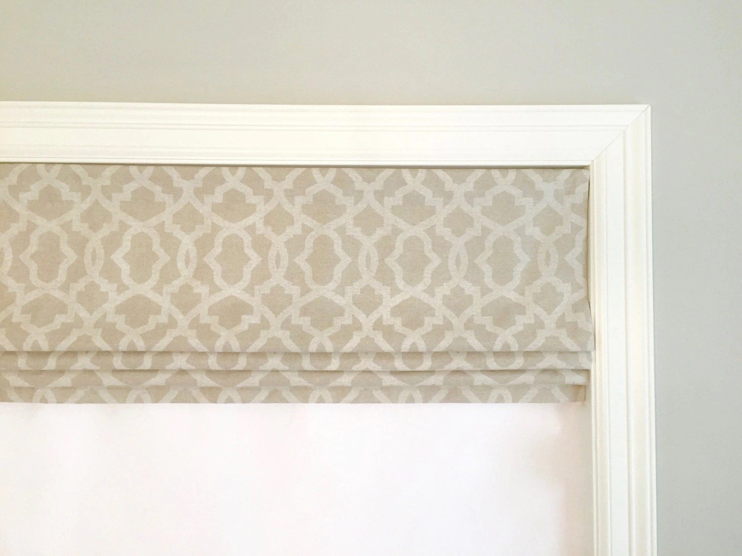 Faux Fake Flat Roman Shade Valance Your Choice Of Fabric