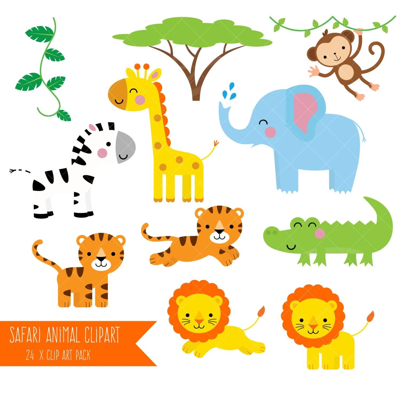 Safari Animals Clipart Printable Jungle Animal Clip Art