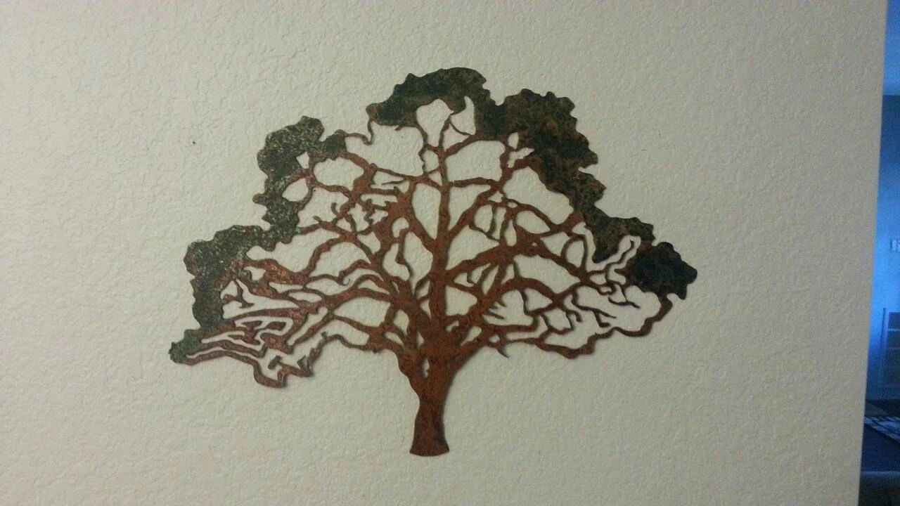 Oak Tree Metal Tree Tree Rustic Tree Home Decor Wall