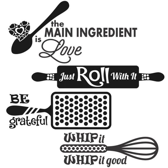 Download Food Kitchen Designs Cuttable Pack SVG DXF EPS use with