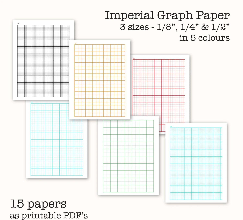 15 Imperial Measure Graph Papers Digital Graph Paper
