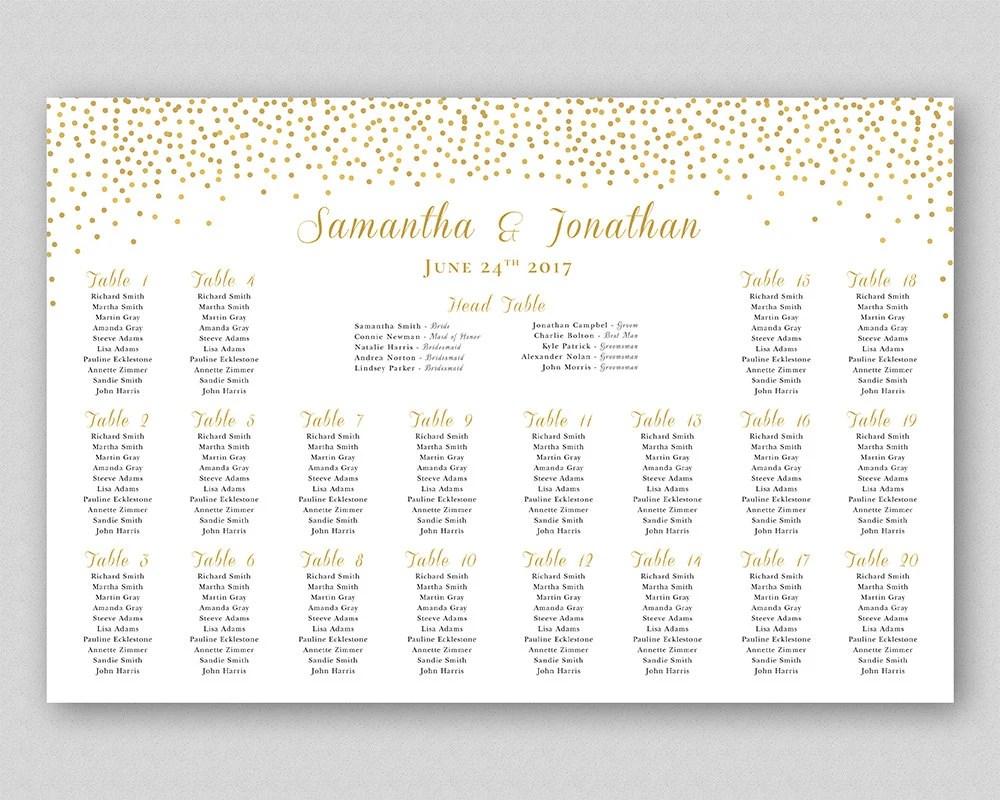 Wedding Seating Chart Sign Poster Board Wedding Table Plan