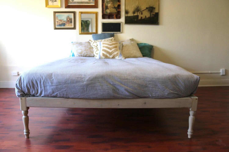 Platform Bed Bed Frame Bohemian Wood Rustic Boutique on Modern Boho Bed Frame  id=40439
