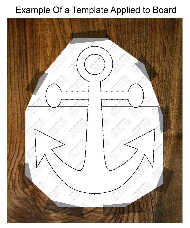 Anchor String Art Template