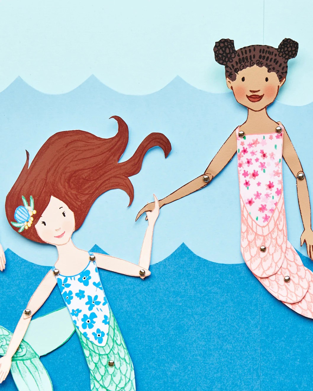 Mermaid Paper Puppets Printable
