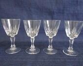 Four Antique Crystal Liqu...