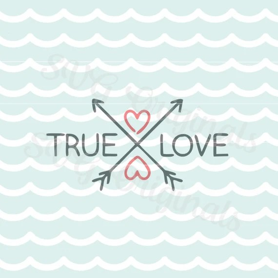 Download Valentine True Love Arrow SVG Vector file. Cute for many uses