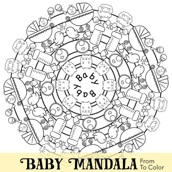 items similar to baby themed coloring pages for adults