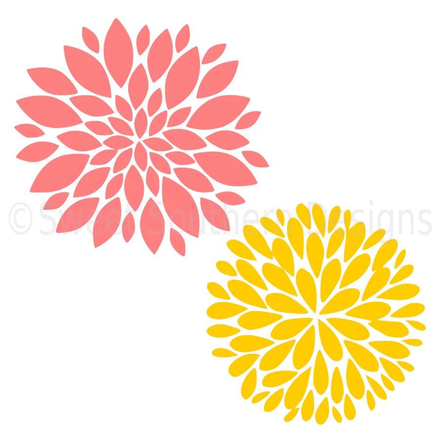 Download Dahlia flower SVG instant download design for cricut or