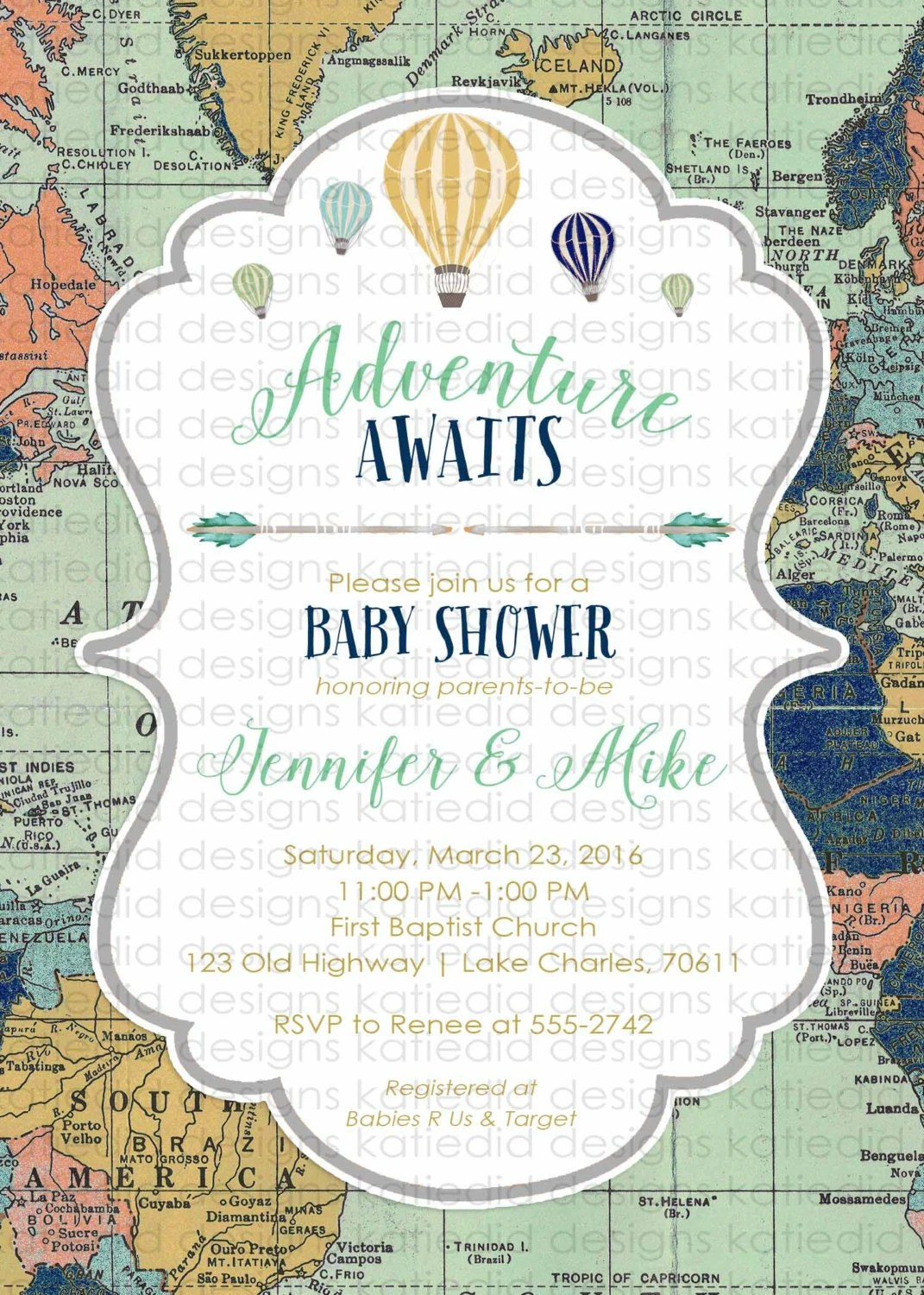 Art Themed Sports Baby Clip Shower