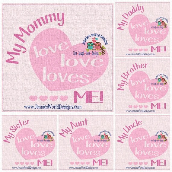 Download My mommy loves me Bundle SVG/DXF/PNG daddy uncle aunt