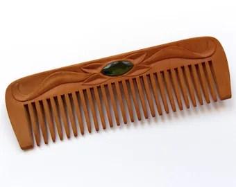 hair b wooden elegant natural handcrafted by mariya4woodcarving