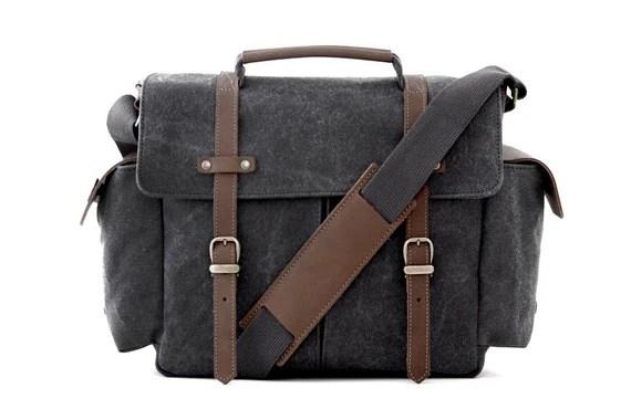 Camera Bag / Messenger Bag / Shoulder Bag / Gray Canvas / TRAIL