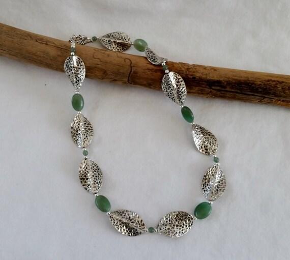 Green Aventurine Gemstone Necklace And By MECODesignsJewelry