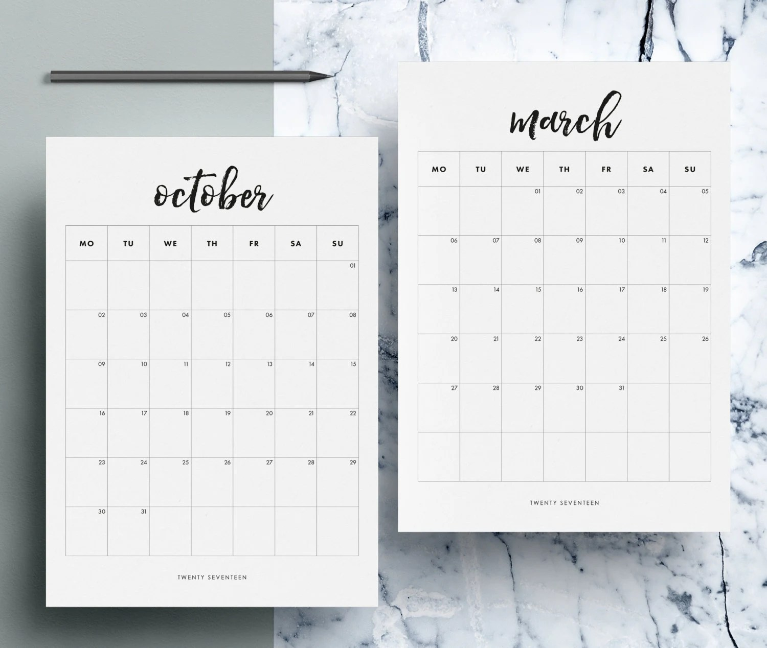 Monthly Calendar Printable 12 Month Calendar Pages