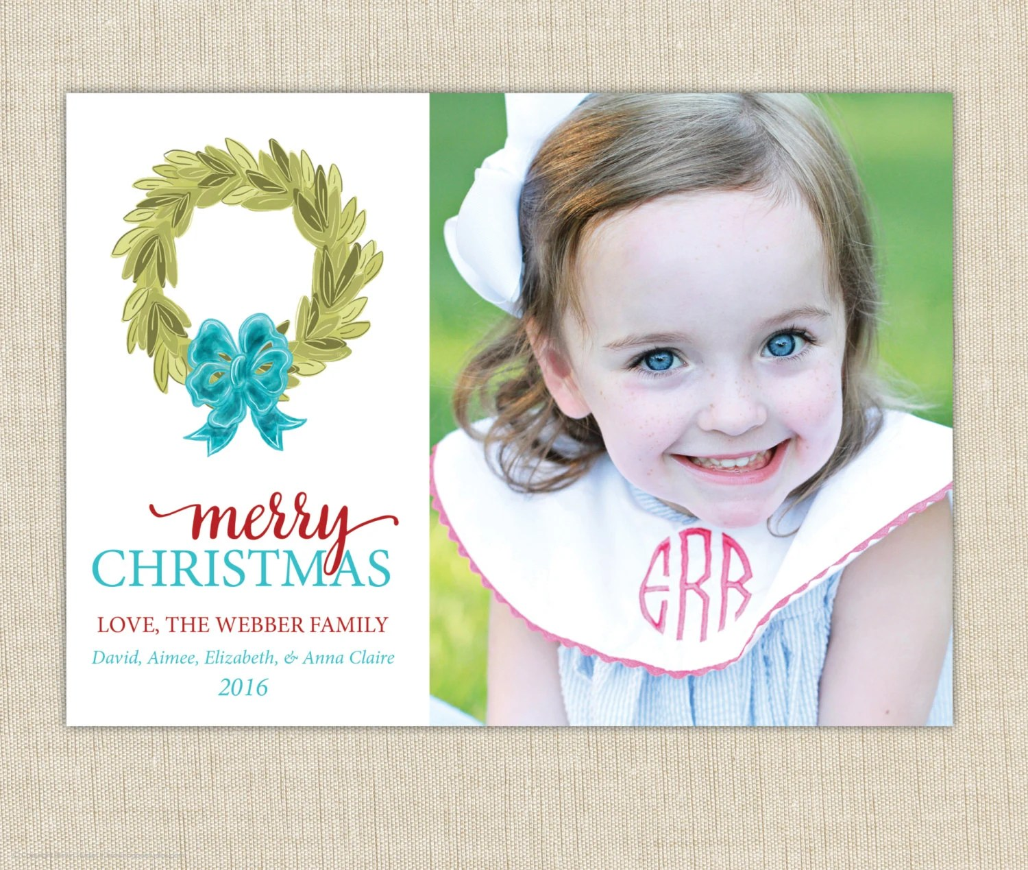 Christmas Card Moving Announcement Weve By Brownpaperstudios