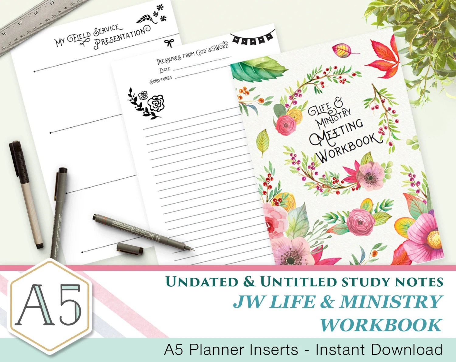 English Simple Jw Meeting Workbook Companion Notes A5