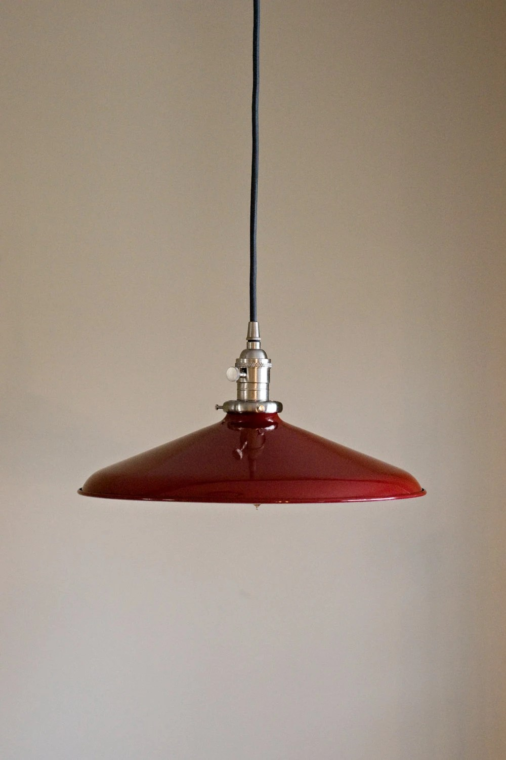 Red Retro Pendant Light