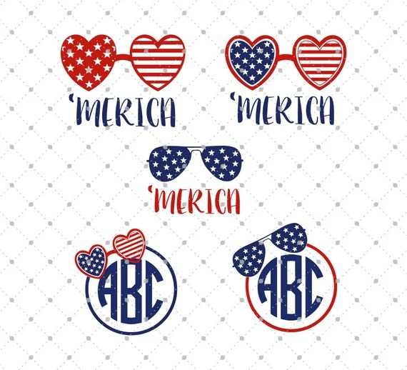 Download 4th of July svg cut files for Cricut America Glasses SVG USA