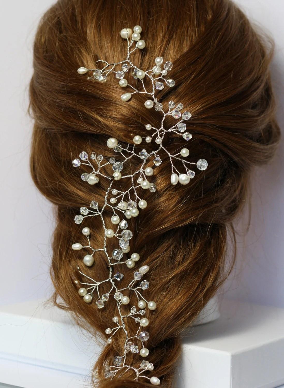 Hair Vine Pearl And Crystal Hair Vine Gyp Hair Vine Boho