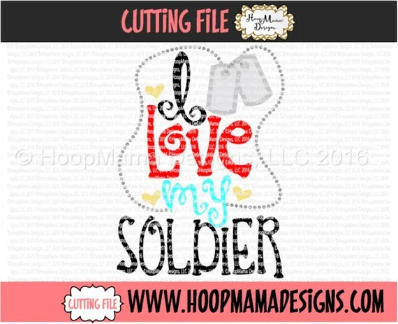 Download I Love My Soldier Military svg Red Fridays Dog Tags SVG