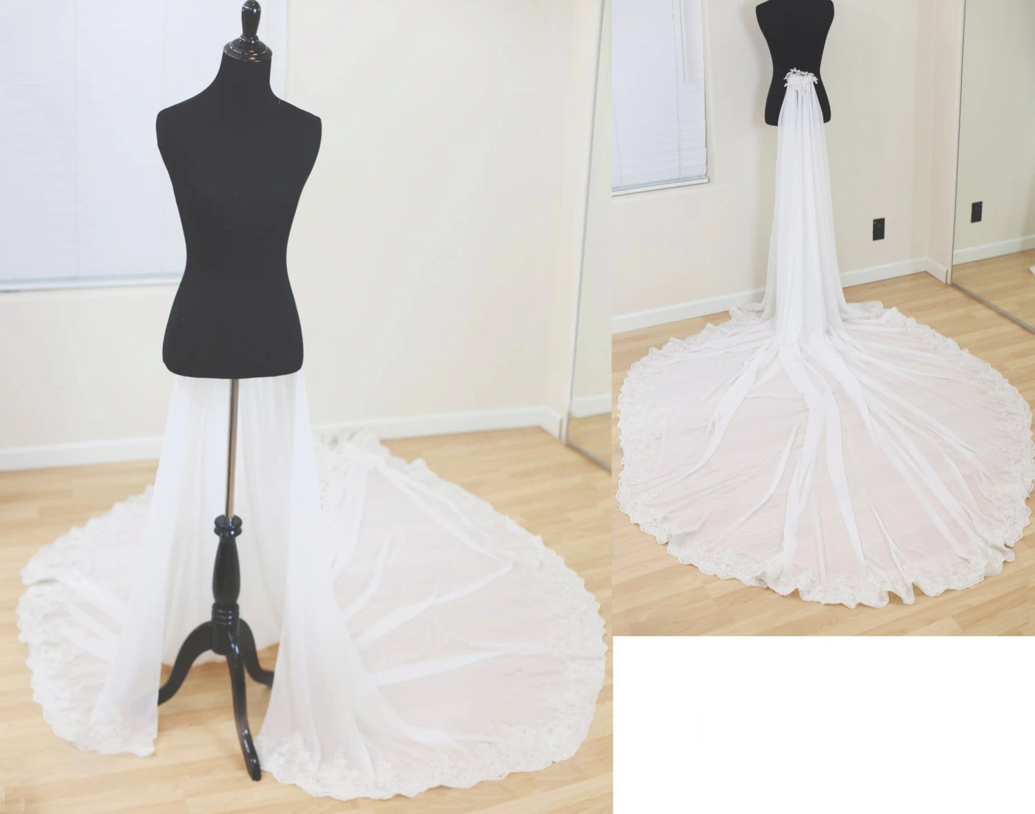Detachable Train For Wedding Dress Chiffon Detachable Train