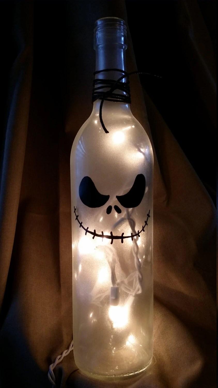 Jack Nightmare Before Christmas Wine Bottle Painted