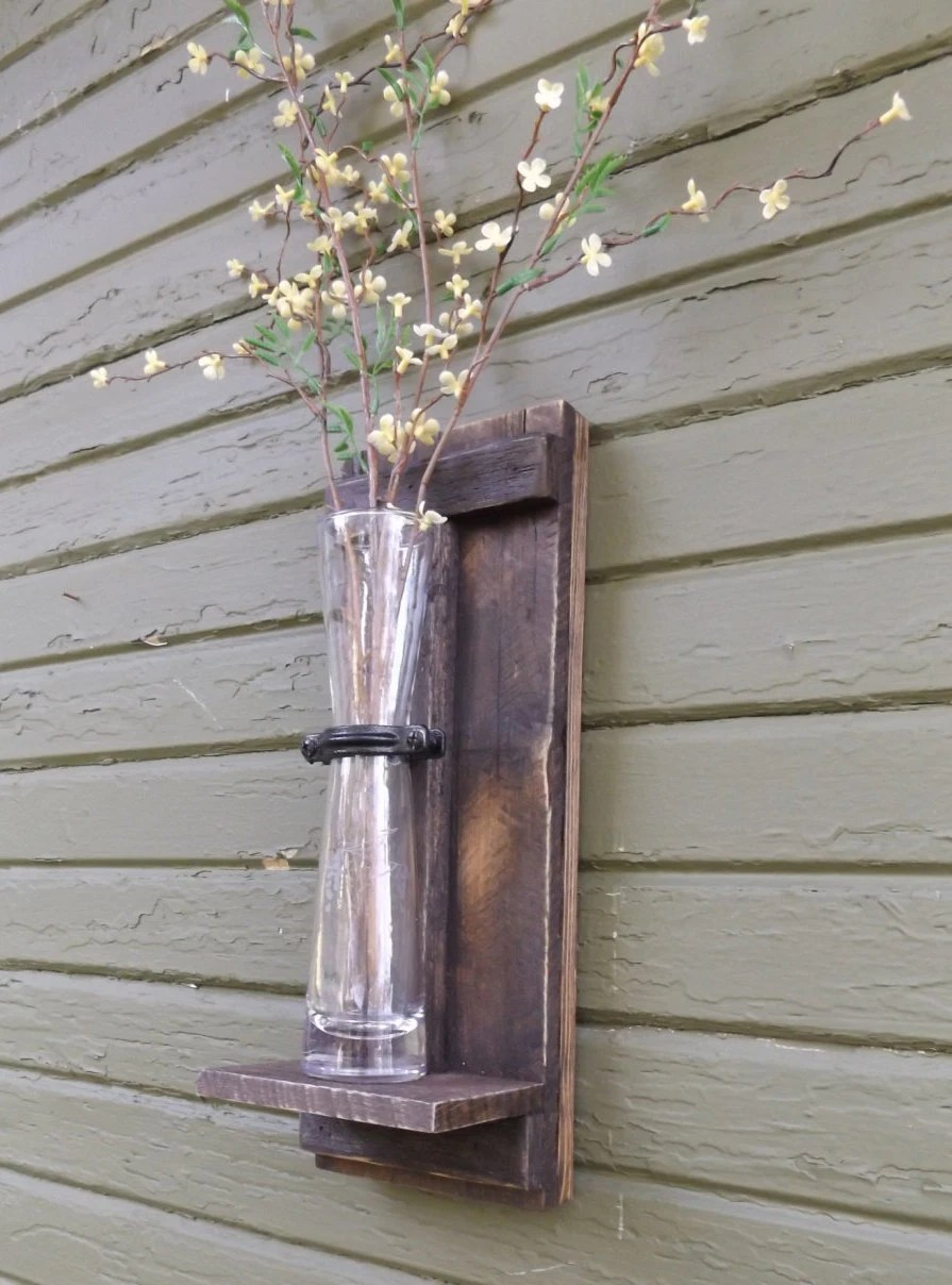 Rustic Wall Sconce. Wood Wall Sconce. Wall by ... on Wood Wall Sconces id=92500