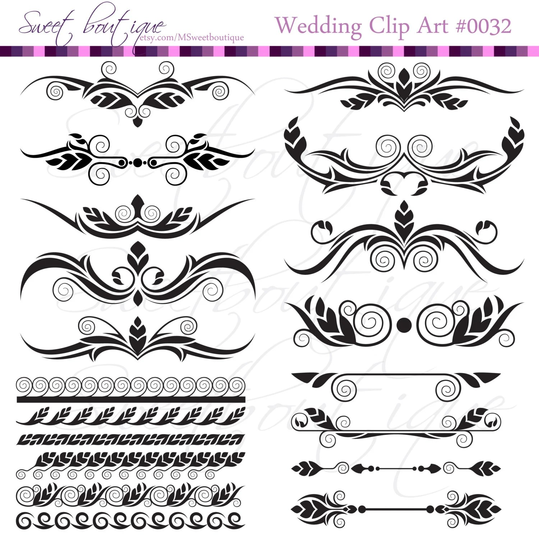 Digital Clip Art Frame Clipart Diy Wedding Invitation