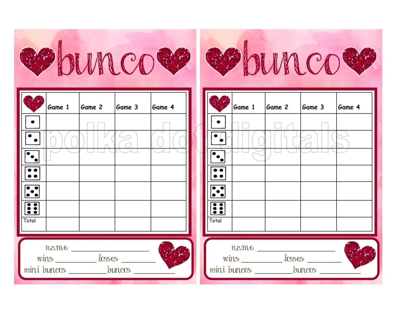 Bunko Score Sheets Etsy
