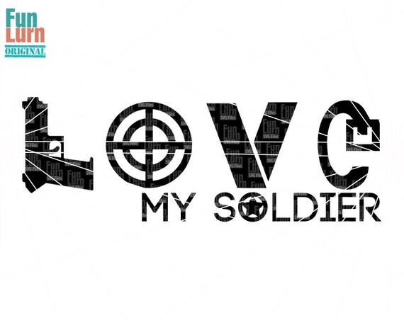 Download Love my soldier SVG Love Army Soldier Target medal belt