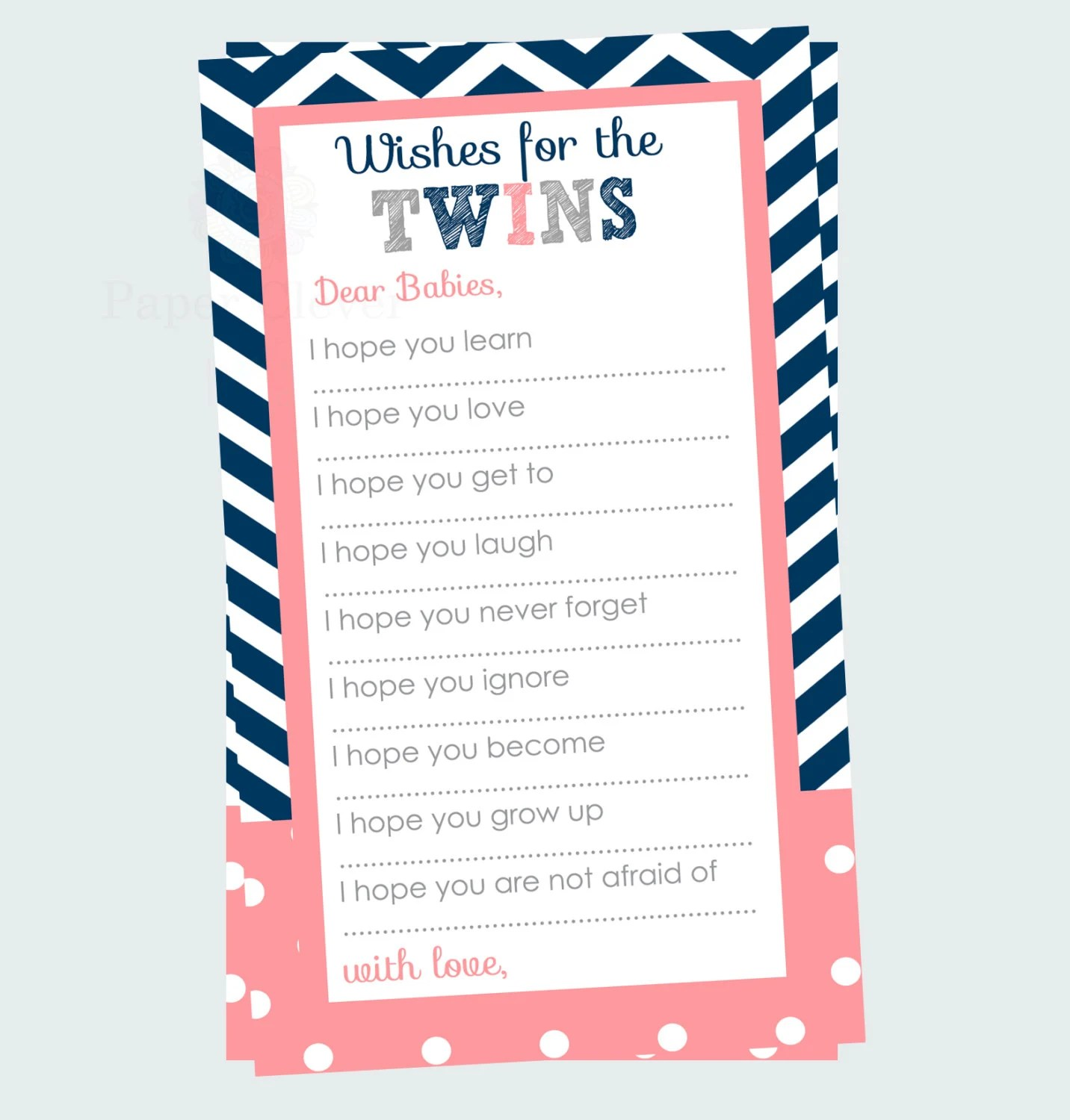 Baby Shower Wishes Twins