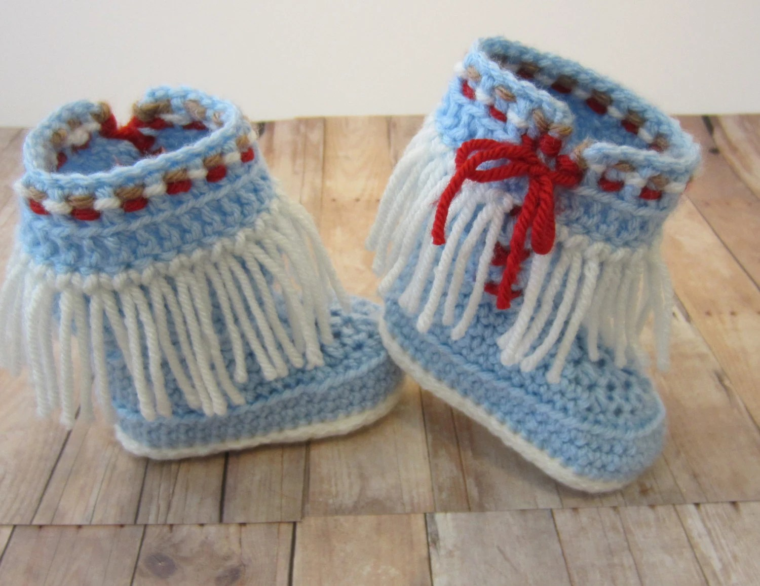Knit Baby Moccasin Boots