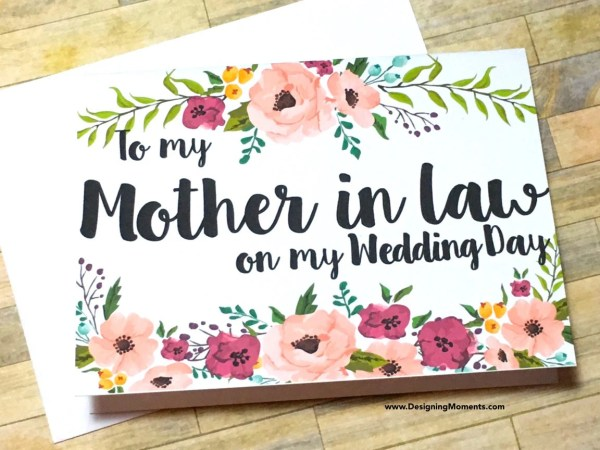 Mother in Law Thank You Card Wedding Mother in by ...