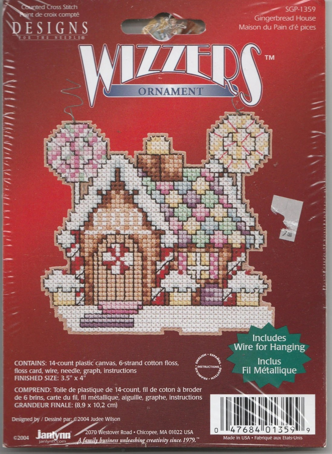 Gingerbread House Janlynn Counted Cross Stitch Wizzlers