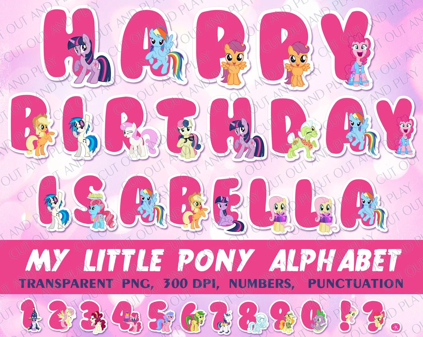 My Little Pony Alphabet Alphabet Clipart My Little Pony